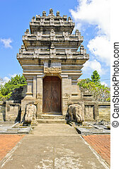 Balinese temple gate in Bali, Indonesia