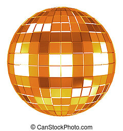 3d disco ball - 3d mirror disco ball on white background