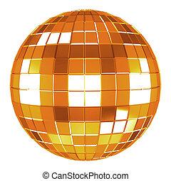 3d disco ball - 3d mirror disco ball on white background