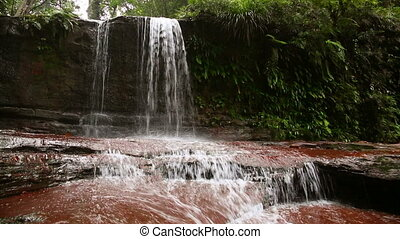 waterfall in Borneo ranforest river