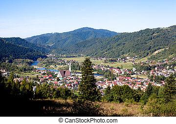 town in the mountains , Pieniny, Poland