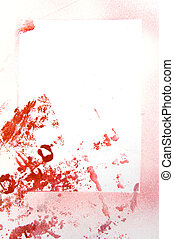Abstract hand drawn painting / graphics: red and pink...