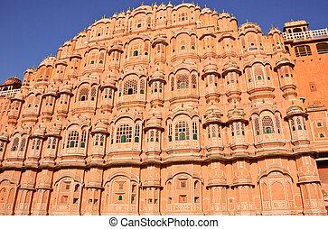 Hawa Mahal - Palace of the Winds (Hawa Mahal) in Jaipur,...