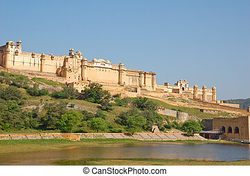 Amber Fort overlooking Maota lake