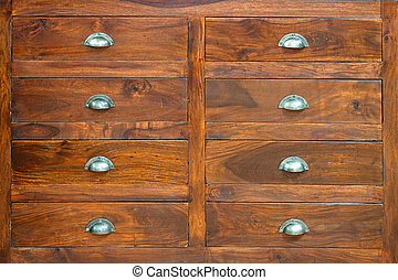 Drawers - Retro style cabinet with big wooden drawers