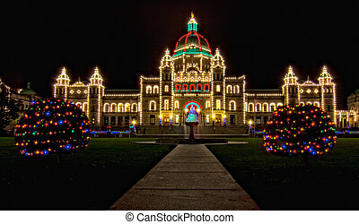 British Columbia Parliament Christmas Lights - British...