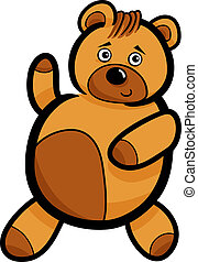 Cartoon Cute Teddy Bear - Illustration of Cute Teddy Bear...