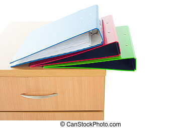 Filing cabinet isolated over white background - Filing...