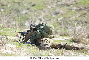 Israeli soldier training - Israel Defense Forces -...