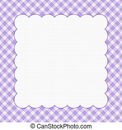 Purple checkered celebration frame for your message or...