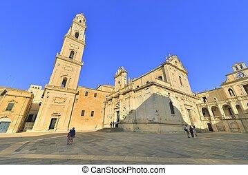 Lecce, -, piazza, Duomo
