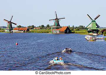 Zaanse Schans - Holland - ZAANDAM, HOLLAND - JUL 26: People...