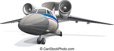 AWACS Aircraft - Detail vector image of modern AWACS...