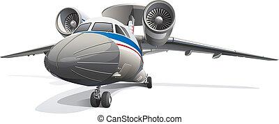 AWACS Aircraft - Detail vector image of modern AWACS...