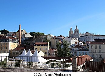 Lisbon panorama, Portugal ? buildings, roofs, churches
