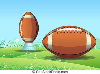American football, illustration