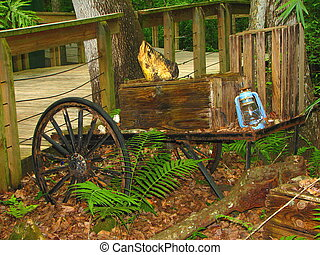 Old Wagon - An old wagon that has out lived it usefulness.