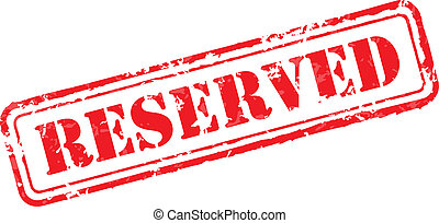 Reserved rubber stamp vector illustration. Contains original...