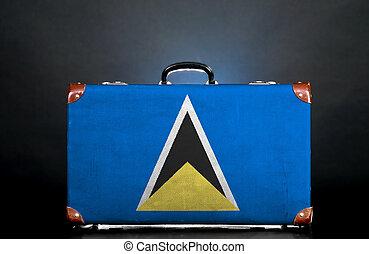The Saint Lucia flag