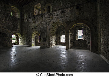 Castle Interior - Doune Castle Interiot, Film set for Game...
