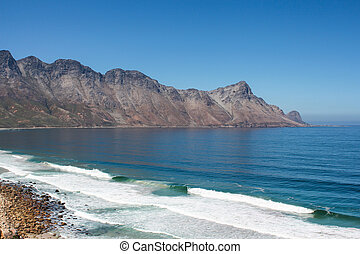 Beach along south africas coastline at the indian ocean