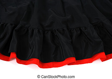 Spanish flamenco skirt - Black and red Spanish flamenco...