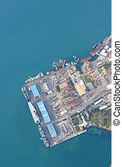 aerial view of durban harbour, Sattahip thailand