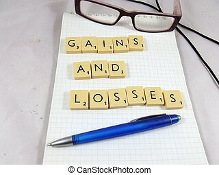 words gains and losses - word gains and losses and pen...