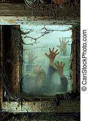 Zombies outside a window - Photo of zombies outside a window...