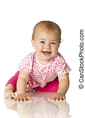 Pink Baby - Sweet baby isolated on white