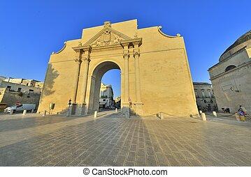 Lecce, -, arco, porta, Napoli