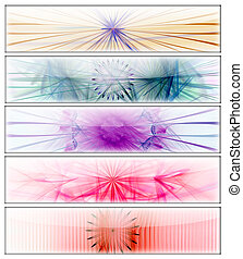 5 Banner Templates - 5 Fractal Flame Banner Templates...