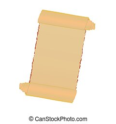 old paper roll vector