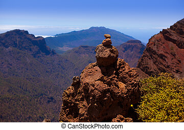 Caldera de Taburiente in Roque Muchachos at La Palma Canary...