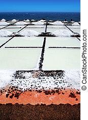 La Palma Salinas de fuencaliente saltworks in Canary Islands