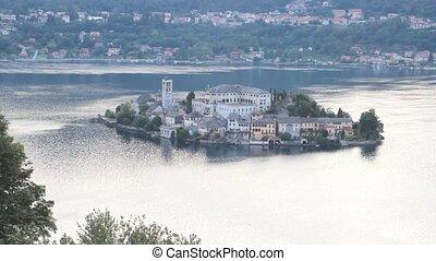 san Giulio isle - Isle of Orta San Giulio, Orta lake, Italy