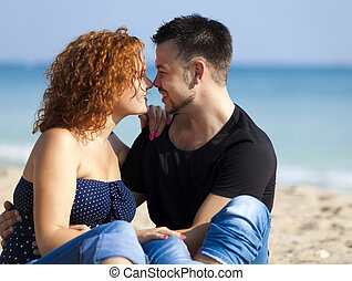 Couple at the beach.
