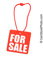 price tag isolated - close-up of price tag isolated on...