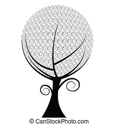 ball tree floral of illustration
