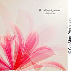 flower - Lily flower abstract vector background, greeting...