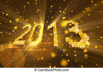 greetings new year 2013 yellow - greetings new year 2013 of...