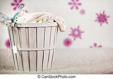Photo-illustration of a wicker bask