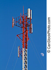 communications tower with antennas - Residential tower with...