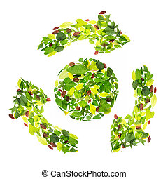 concept of the Earth - Save The Earth Concept Green Recycle...