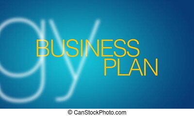Business Plan Kinetic Typography.