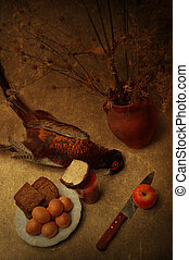 Still life with pheasant - Art still life with a pheasant...