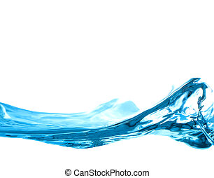 abstract water wave isolated on white background