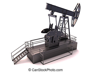 Oil rig isolated on a white background