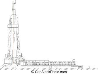 oil derrick - Sketch. oil derrick. EPS 10