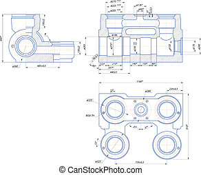 Hydraulic unit of the piston pump - Sketch. Hydraulic unit...
